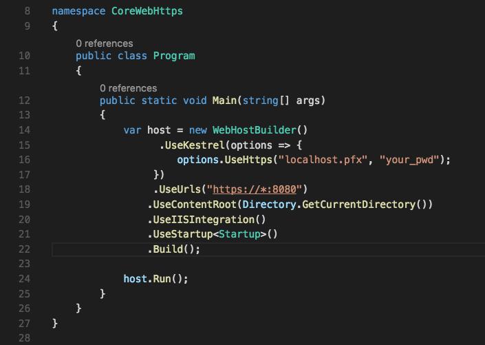 Pete Skelly: Testing SSL in ASP NET Core on a Mac